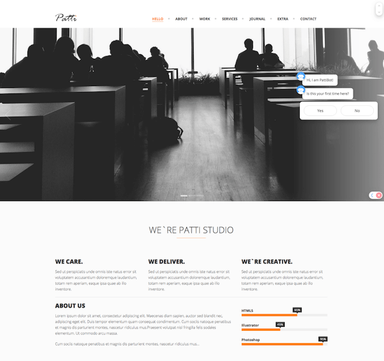 Patti HTMl Template