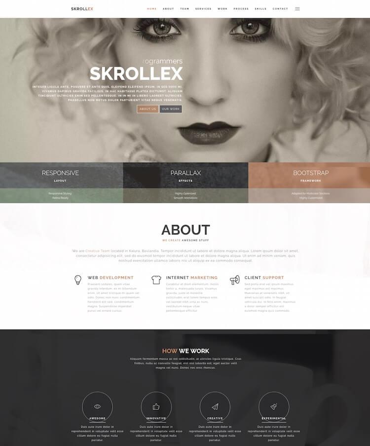 Skrollex HTML Template