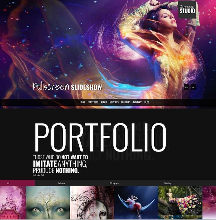 Surreal HTMl Template