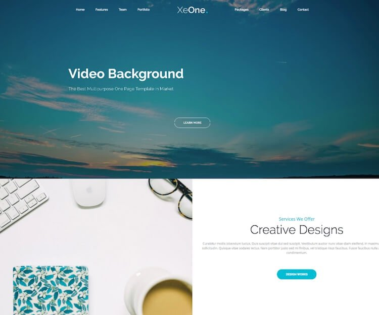 XeOne One page HTML Template