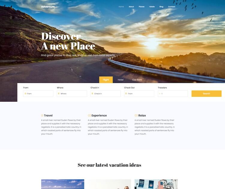 Adventure 2 Travel Business HTML Template