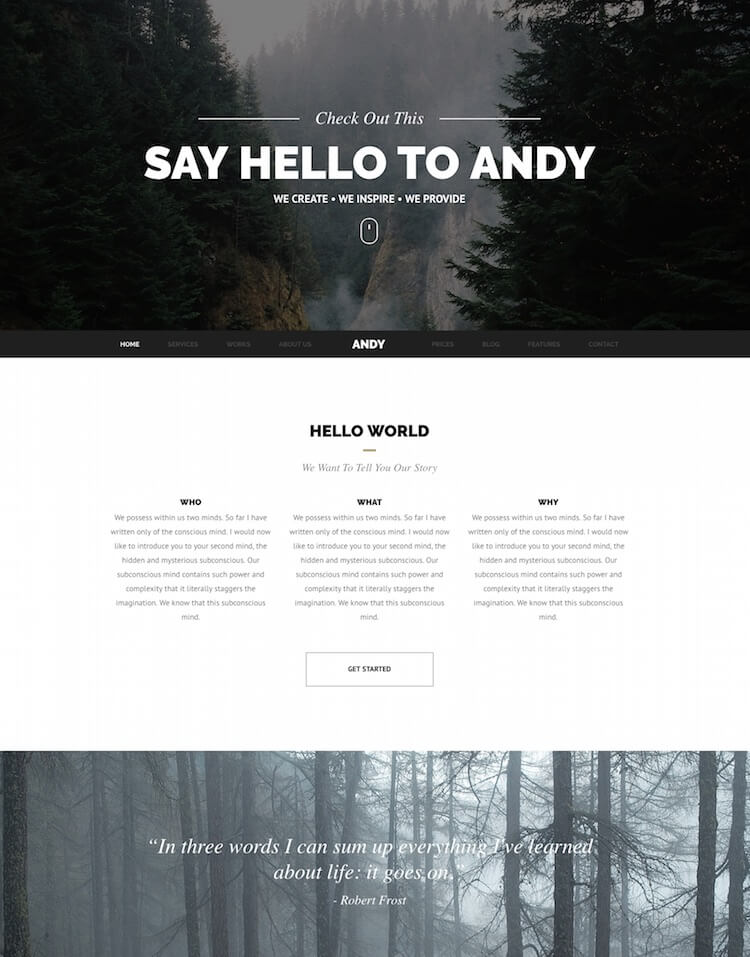 Andy Creative Joomla Template