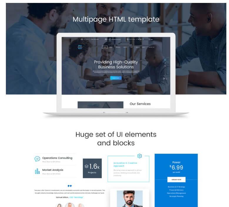 Generic HTML Template