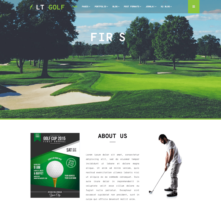 LT Golf Joomla Template