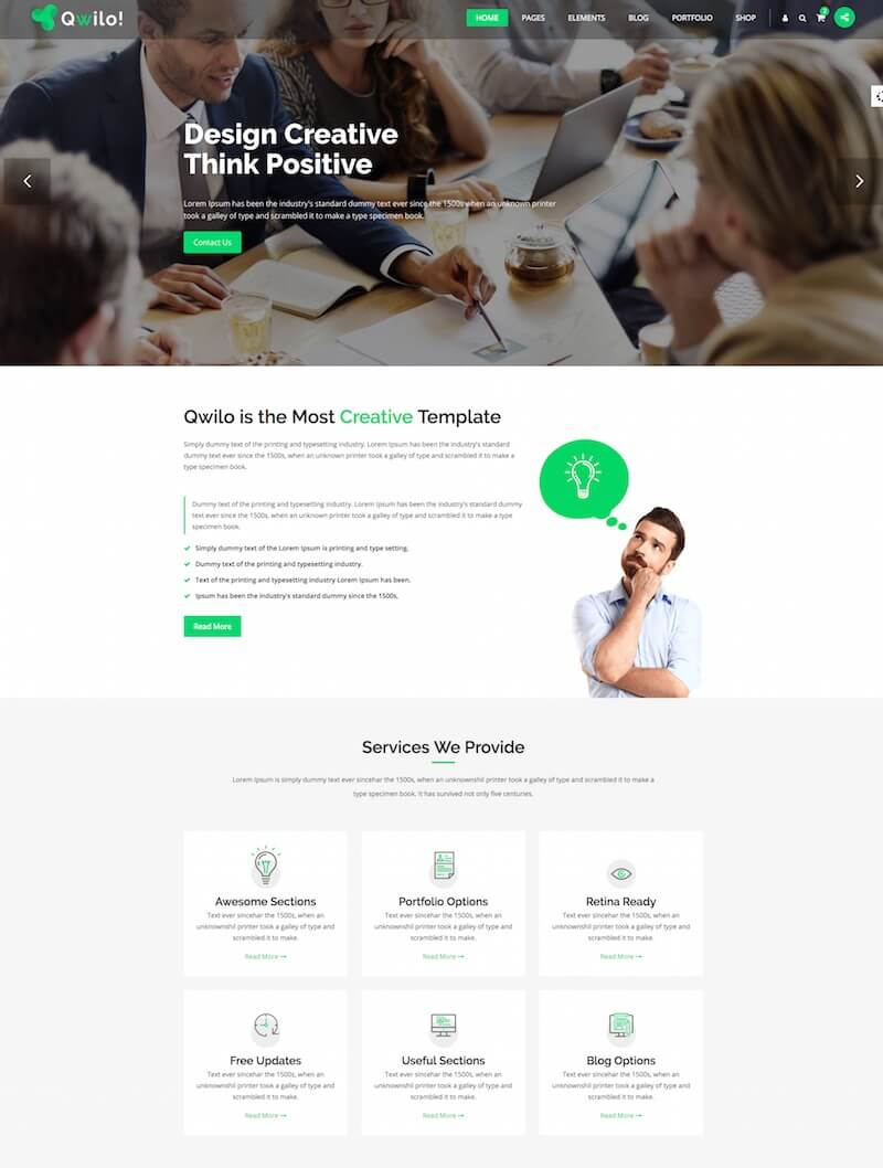 Qwilo Consulting HTML Template