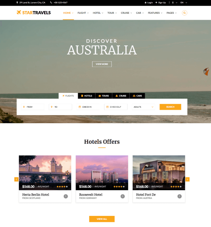 Star Travel HTML Template