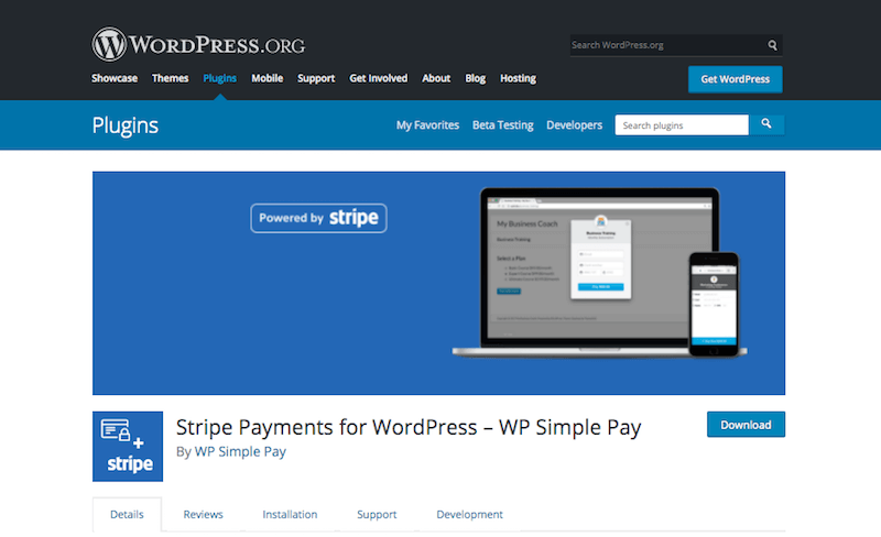 Stripe Payment Gateway for WordPress
