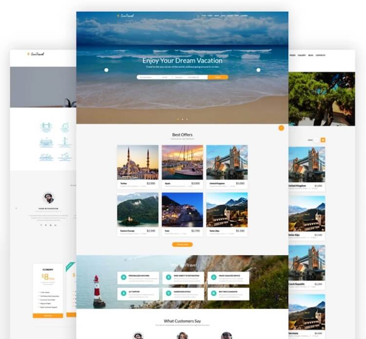 Sun Travel HTML Template
