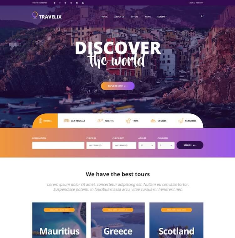 Travelix HTML Template