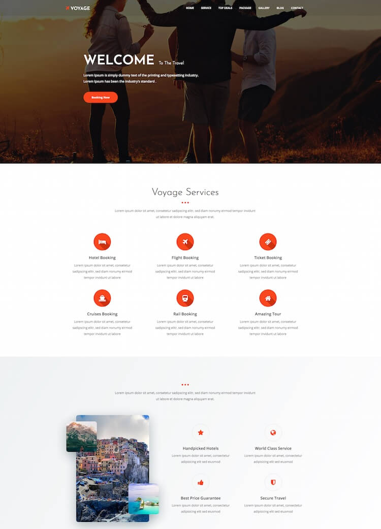 Voyage HTML Template