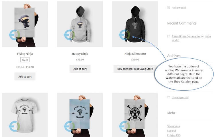 WooCommerce Product Image Watermark Plugin