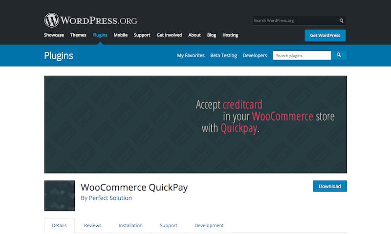 QuickPay for WordPress
