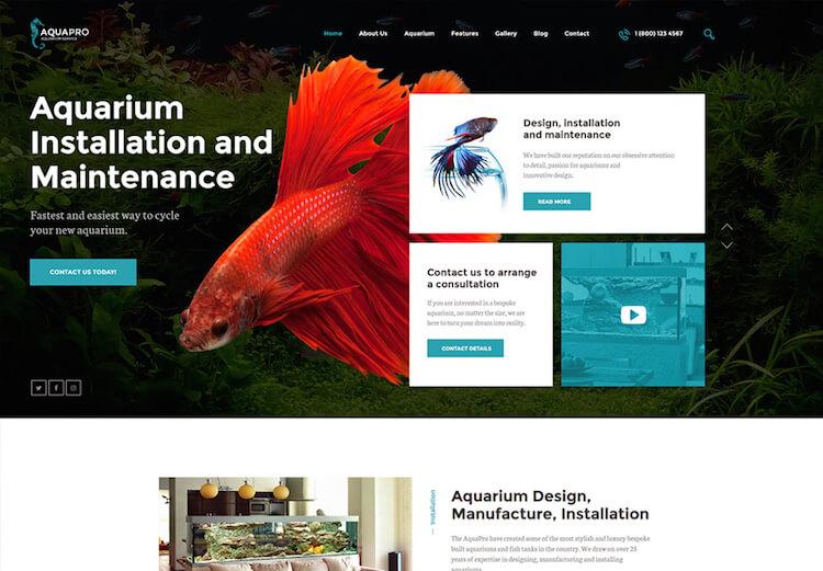 AquaPro WordPress Theme