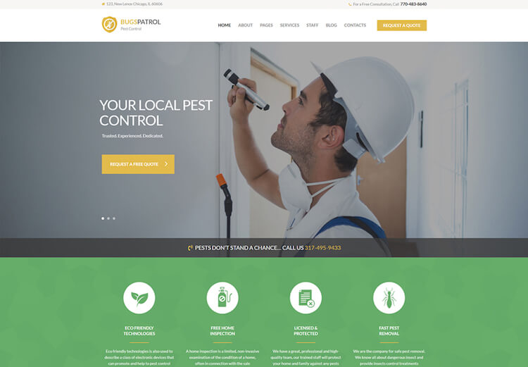 Pest Control Services WordPress Theme
