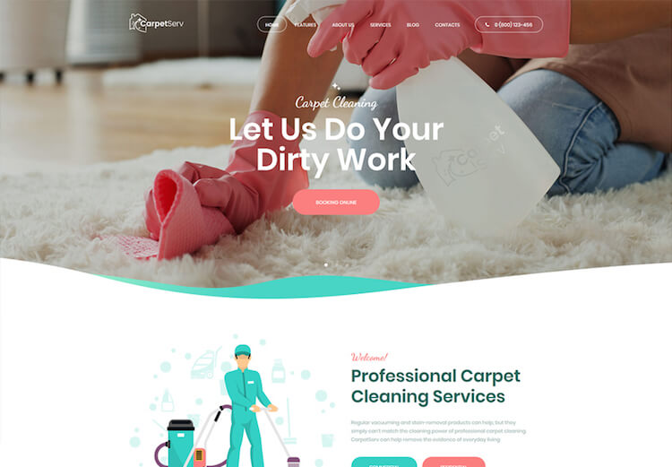 Cleaning Company  Services WordPress Theme