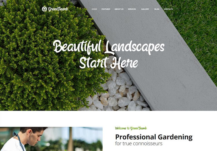 Green Thumb Gardening & Landscaping WordPress Theme