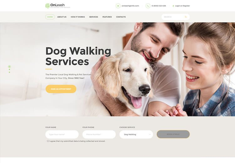Dog Walking & Pet Services WordPress Theme