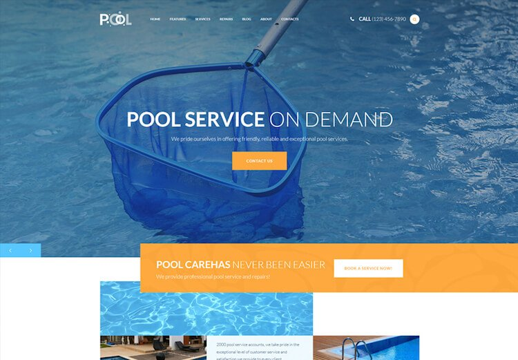 Pool Maintenance Services WordPress Theme