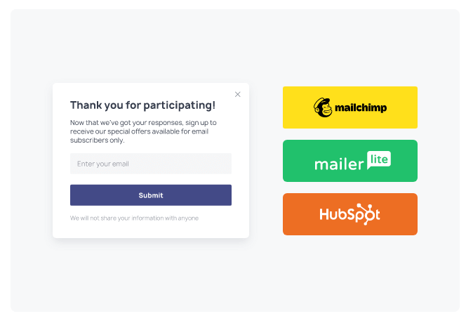 popups to collect emails