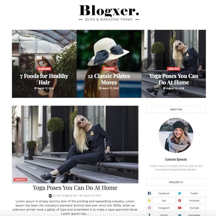 Blogxer-Blogger-Template
