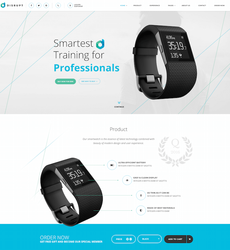 Disrupt HTML eCommerce template