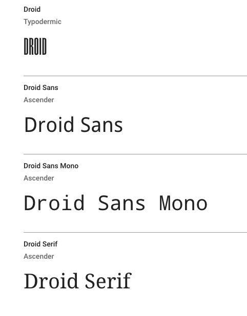 Droid Font