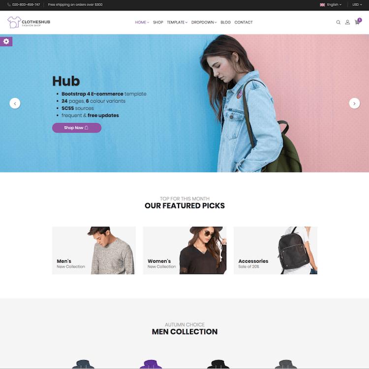 Hub eCommerce Template