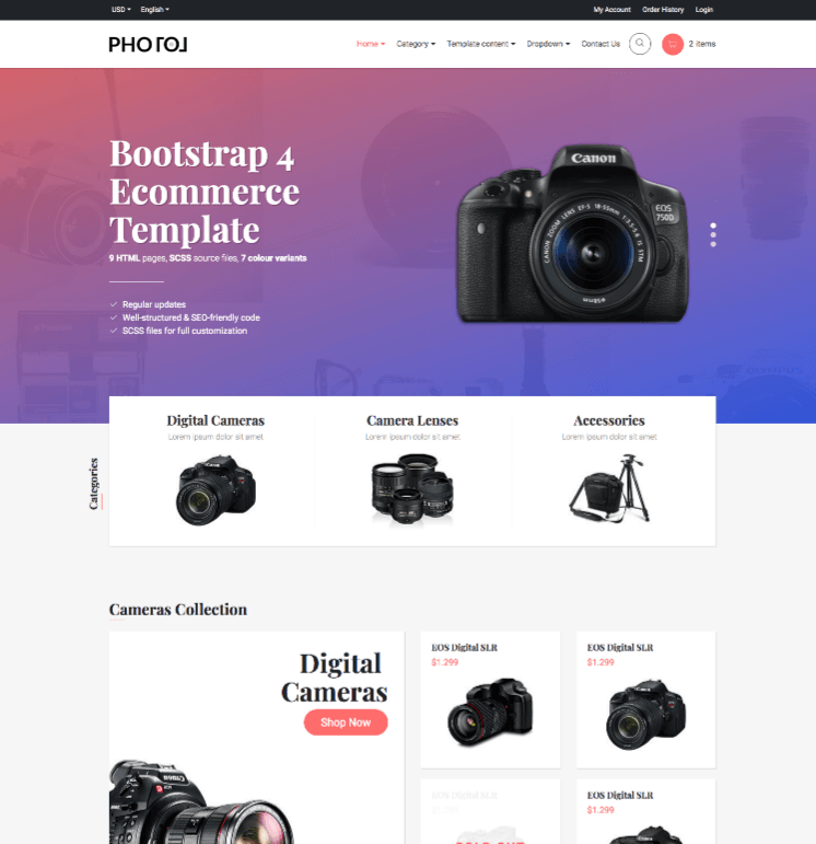 Photo eCommerce Template