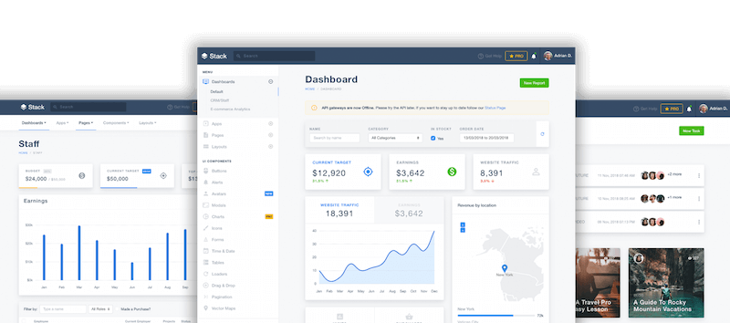 STACK ADMIN DASHBOARDS