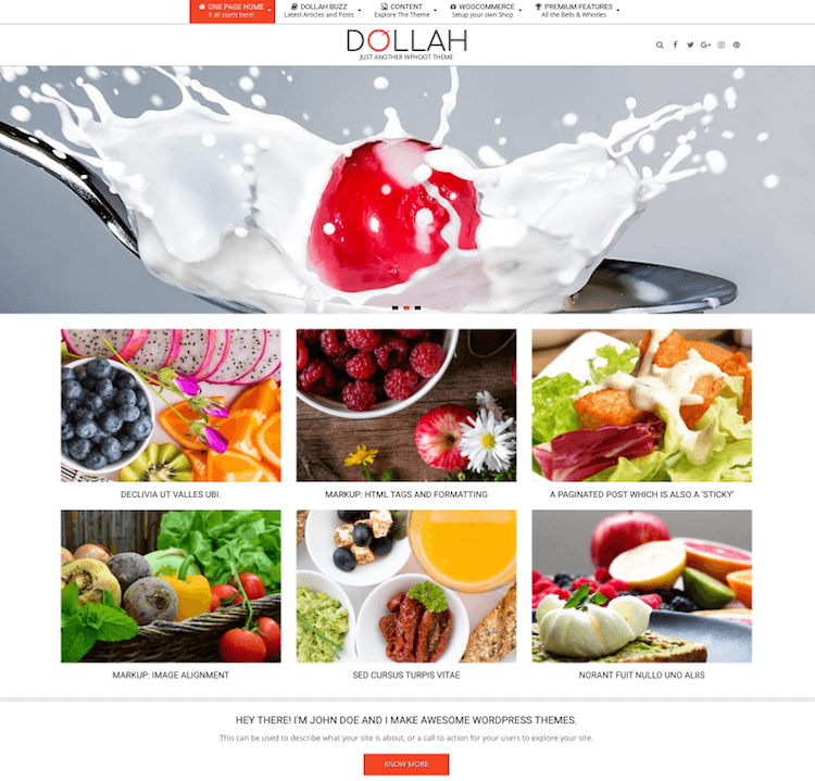 Dollah WordPress Theme