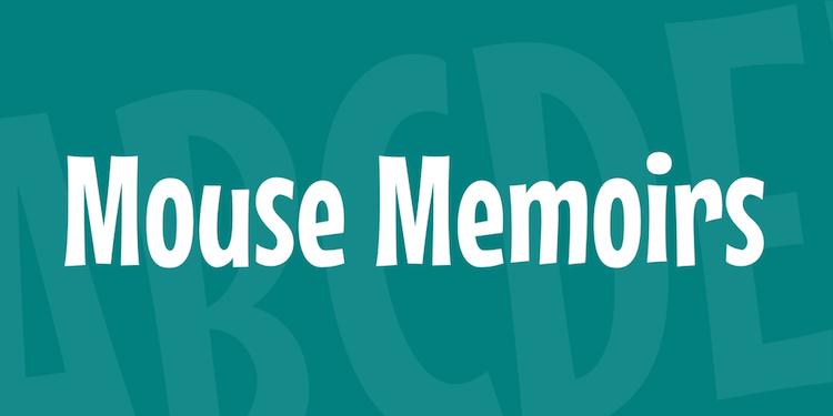 Mouse memoir font