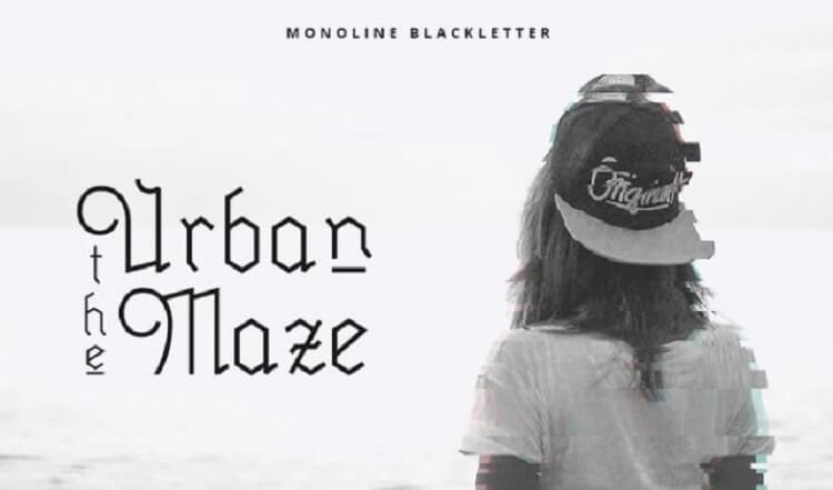 Millenium Blackletter Typeface