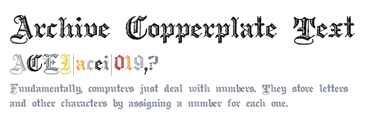 Archive Copperplate Text