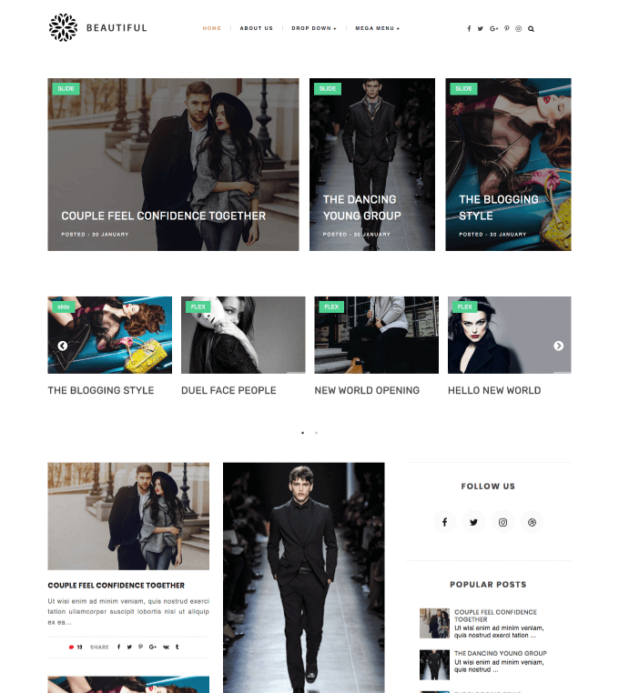 Beautiful Blogger Template