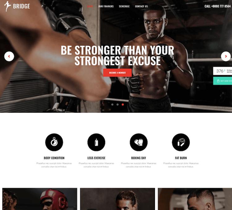 Bridge Fitness Theme