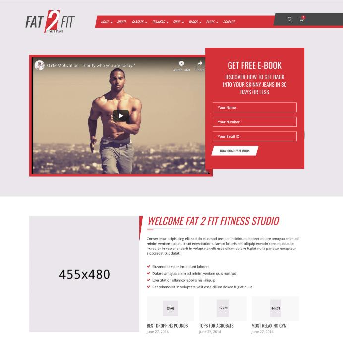 Gym & Fit Theme