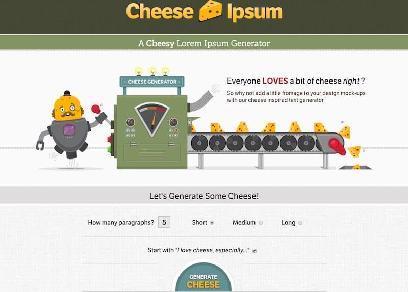 Cheese Ipsum