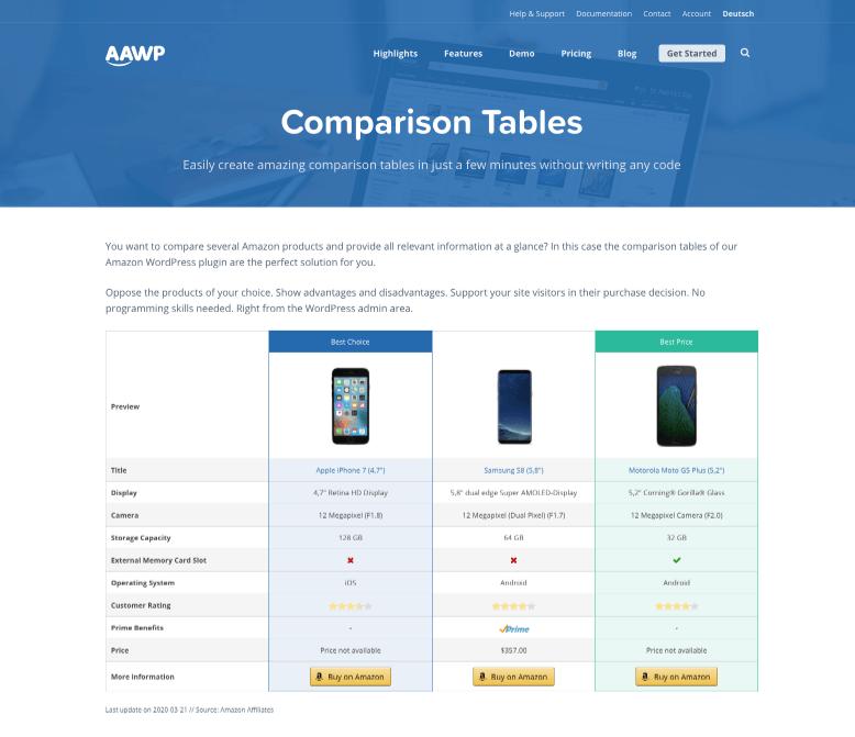 Product Comparison Plugins