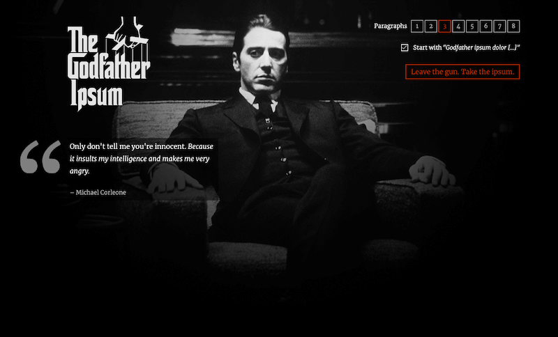 The Godfather Ipsum
