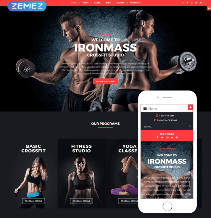 Iron Mass Joomla Template