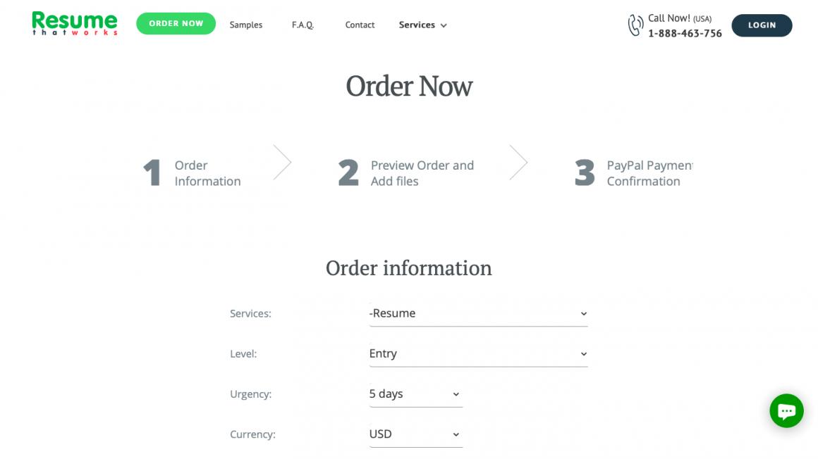 Order Resume Service