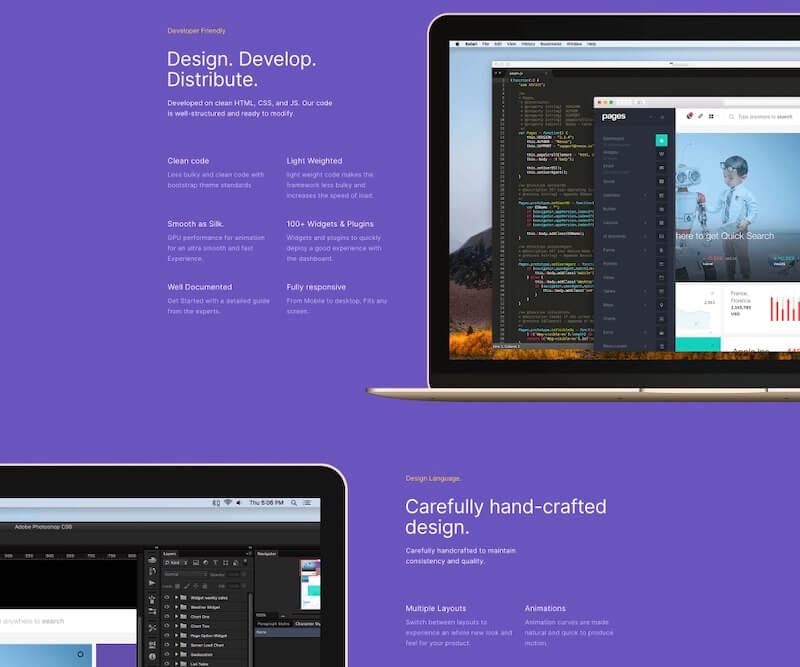 Pages, Admin Dashboard Template