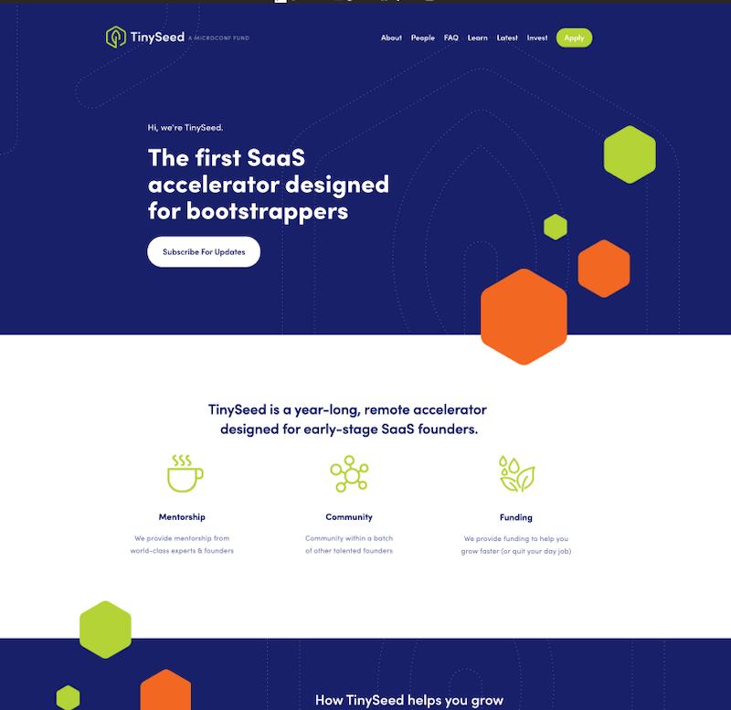 TINYSEED Squarespace design