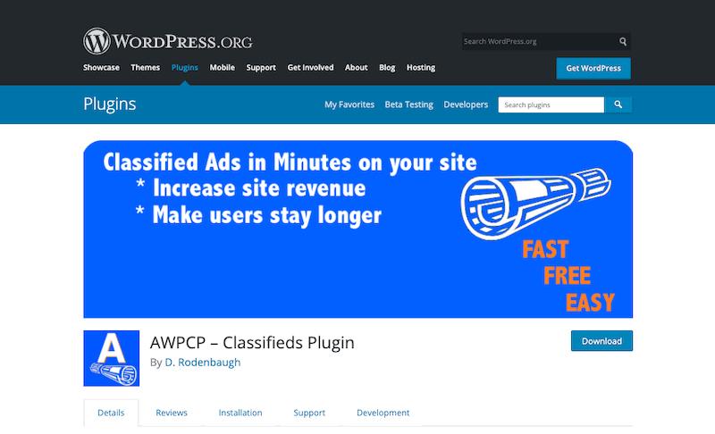AWPCP Classifieds Plugin