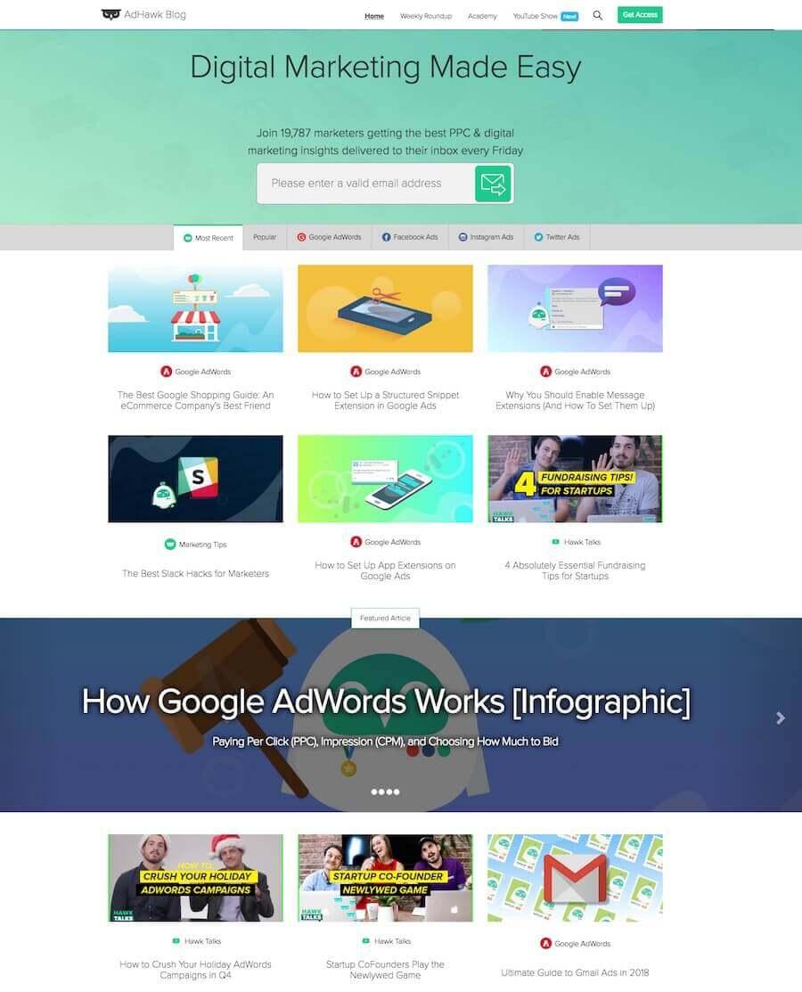 AdHawk Blog Digital Marketing Blog