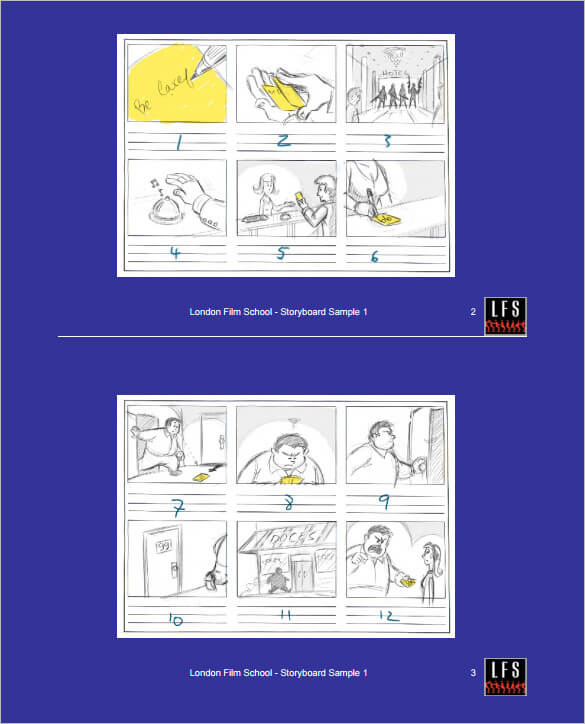 Animation-Movie-StoryBoard-Template