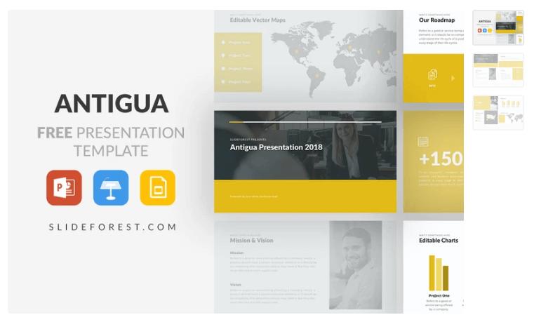 Antigua Free Presentation Template