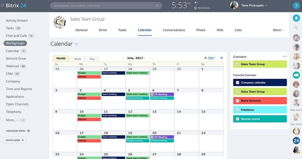 Calendar Sharing