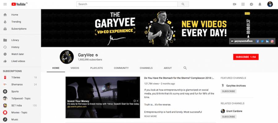 Gary Vaynerchuk YouTube Channel