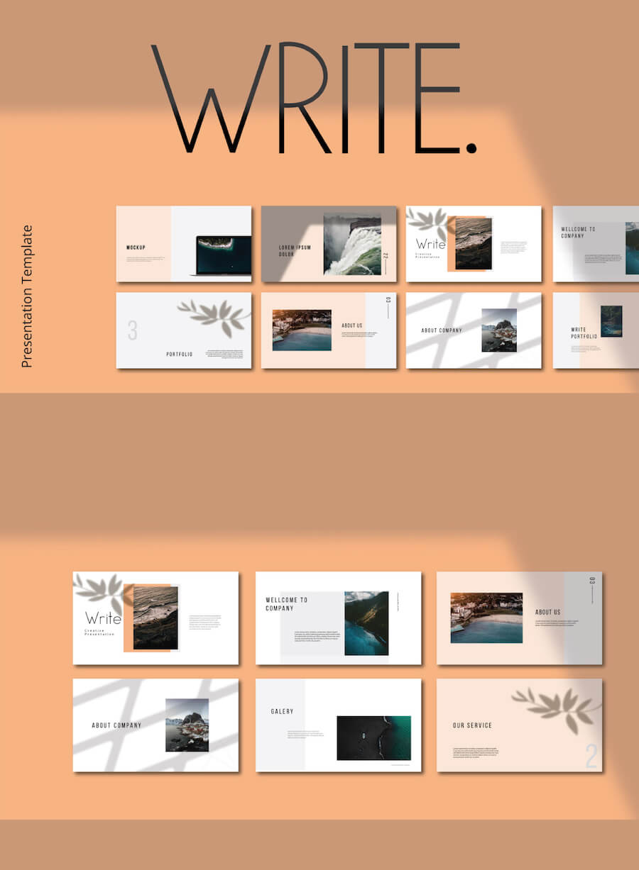 WRITE - FREE PRESENTATION TEMPLATE